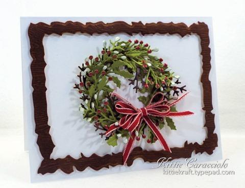 KC Penny Black Layered Christmas Wreath 1 left