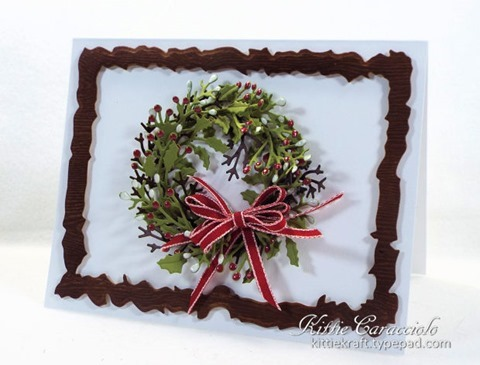 KC Penny Black Layered Christmas Wreath 1 right
